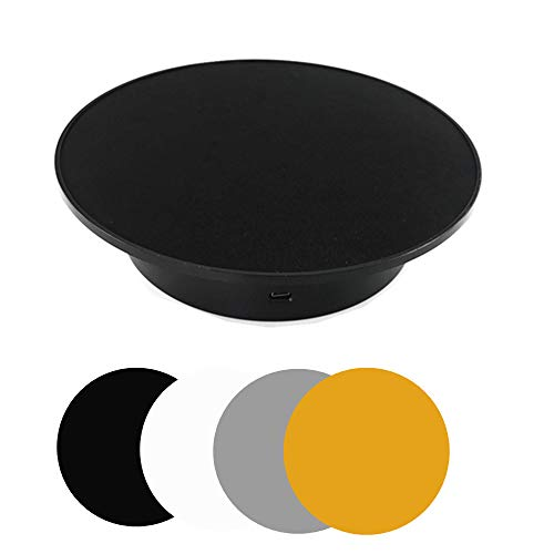 Motorized Rotating Display Stand Automatic Revolving Platform Ideal for 360 Degree Images Product Display Cake Display Photography Turntable for Product Black
