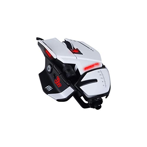 MadCatz R.A.T. 6+ Optical Gaming Mouse, White