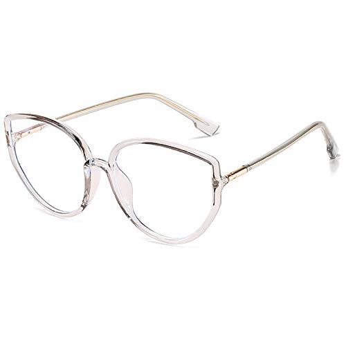 Gafas de Bloqueo de luz Azul Gafas para Juegos de computadora TR Montura de anteojos Trend Big Frame Gafas Lectura Anti-Fatiga Visual para Mujeres y Hombres,D