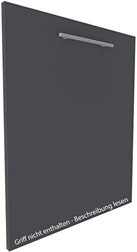 Geschirrspülerfront 19mm voll-, teilintegriert und nach Maß (Anthrazit, 594x715mm)