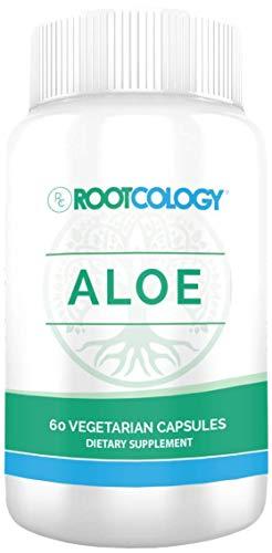 Aloe Vera Capsules - GI Support 200:1 Whole Aloe Leaf Capsules, Rootcology by Izabella Wentz Author of The Hashimoto's Protocol (60 Capsules)