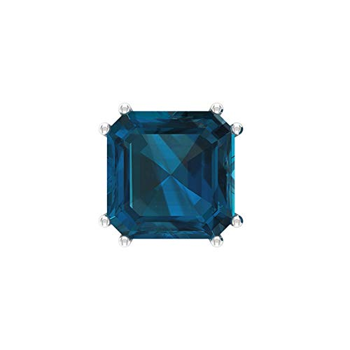 Rosec Jewels 10 quilates oro amarillo asscher Blue Topacio azul - Londres