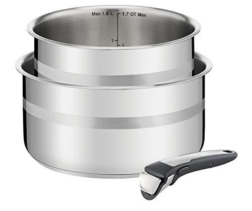 Tefal Ingenio Jamie Oliver L95693 Batería de cocina, Acero Inoxidable