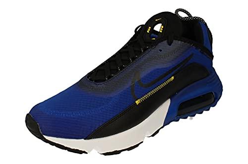 Nike Air MAX 2090, Zapatillas para Correr Hombre, Hyper Blue Black White Tour Yellow, 44.5 EU