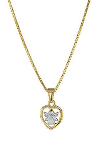 trendor Anhänger für Kinder 333 Gold Engel-Herz mit Kette 08554-40 40 cm
