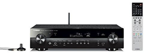 Yamaha RX-S601BL Receiver (Black Aluminum), Works with Alexa