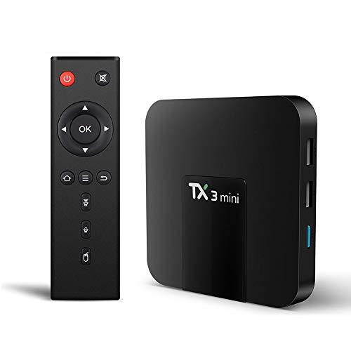 Xilibod TX3 Mini Smart Android TV Box Android 8.1 TV Box 2GB RAM/16GB ROM, S905W Quad Core64 Bits WiFi Smart 4K TV Box - Model No.: TX3mini 2GB 16GB