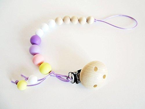 Portaciuccio (in 100% Silicone Alimentare Antibatterico, senza BPA e non tossico) con Scatola Regalo (Personalizzabile con il nome del Bebé)   Baby Shower Gift Idea   Modello \