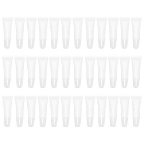 EXCEART 60 x nachfüllbare leere Kunststoffröhrchen für Lippenbalsam, Röhrchen, Probe, Verpackung, Behälter, Make-up, Behälter für Körperlotion, Duschgel, Shampoo, Reiniger, 10 ml