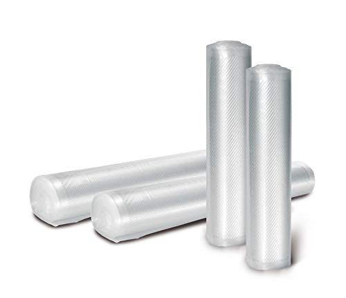 Fresherpack 20cm x 600cm Embossed / Textured Vacuum Sealer Food Roll - Made in Italy - Sans BPA - Compatible Sousvide Rouleaux de 6m de longueur x 2 = 12m Total