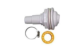 FibroPool Above Ground Pool Wall Fitting Return Jet Assembly with clamp and Thread Tape