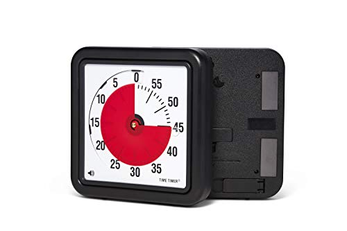 Time Timer Original Magnetic 8 inch; 60 Minute Visual Timer – Classroom or Meeting Countdown Clock for Kids and Adults (Charcoal)