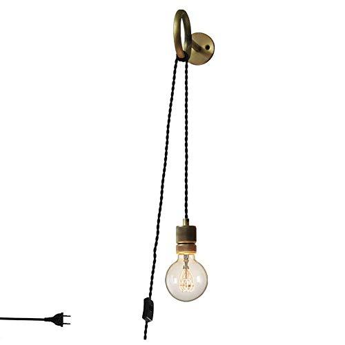Anclk Apliques De Pared Creativa Con Interruptor Enchufe De Cable Lámpara De...