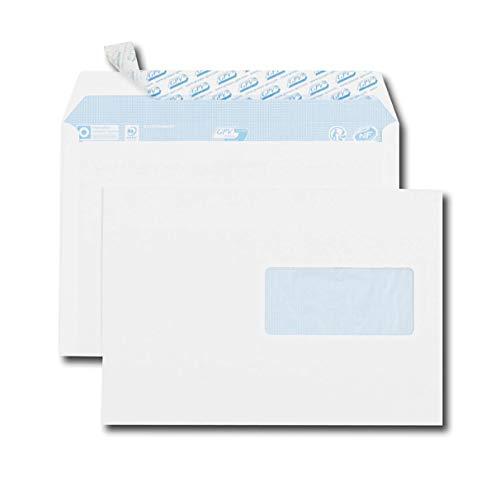 Caja Lote de 500 Sobres 115x225 Papel N 5 Blanco Tira Silicona 90Gr//m²