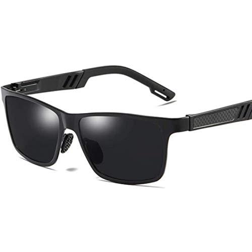 ZHANG Gafas De Sol para Mujer Gafas De Sol Retro Gafas De Sol Negras con Espejo Cuadrado Vintage Polarizadas para Hombre Antideslumbrante,A