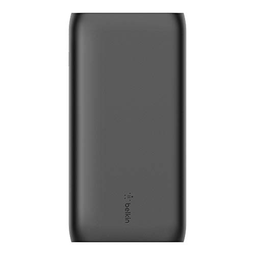 Belkin Portable Power Bank Charger 20K (Portable Charger Battery Pack w/Dual USB Ports, 20000mAh Capacity) for iPhone, iPad, AirPods and More, Black (BPB003btBK)