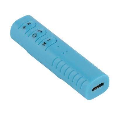 ExcLent Haut-Parleur Mains Libres Bluetooth Voiture 3,5 Mm Bluetooth Musique Aux - Day Sky Blue