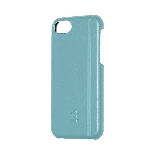 Moleskine - iPhone Hülle - Klassiches Hartschalenetui  mit Gummiband-Optik für iPhone 6, 6s, 7, 8  - Riff Blau