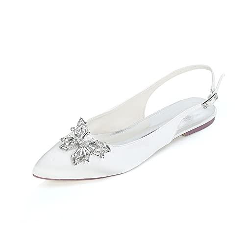 Elegante Zapatos de Novia, Sencillez el Verano Sandalias con Pedrería de Mariposa...