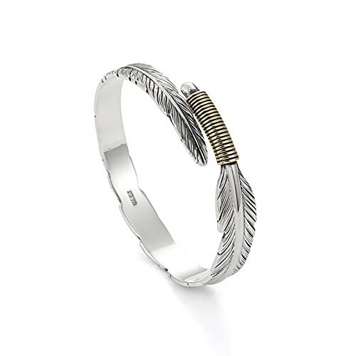 YJZW Frauen Silber Armband Vintage Stil Einstellbare Feder Armreif Öffnen Charm Manschette Armreif Schmuck Armreifen Zubehör Für Mädchen Männer
