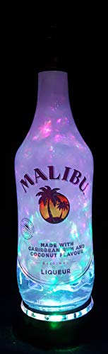 Malibu Rum - Flaschenlampe mit LED Podest