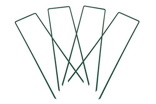 NJoR Scandinavia 4 śledzie do domku dla ptaków z wytrzymałego metalu   zielone pręty stabilizujące do zabezpieczenia poidła dla ptaków i stacji dokarmiania przed przewróceniem się na wietrze