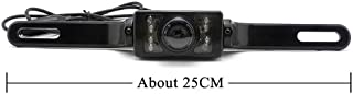 iSaddle Universal Car Rear View Camera, General Car Reversing Camera with 8 LED IR + Waterproof + Wide Angle + CCD