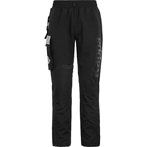 Kappa Bender - Pantalón de chándal para Hombre Negro, Gris M