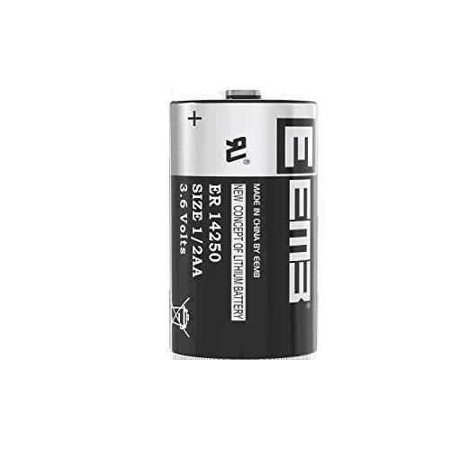1X EEMB 1/2 AA 3,6V Li-SOCL₂ Batterien ER14250 LS 14250/3,6V Lithium-Thionylchlorid 1/2 AA 1200 mAh/Li-SOCL₂ Batteries mit extrem hoher Energiedichte Nicht wiederaufladbar