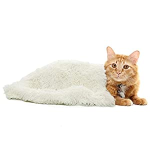 Ompaa Fluffy Dog Blankets for Dogs, Cats and Small Pets, Soft Plush Faux Fur Puppy Snuggle Blanket, Designed for Donut Cuddler Dog Bed, Self-Warming, Machine Washable, 20×30 inch