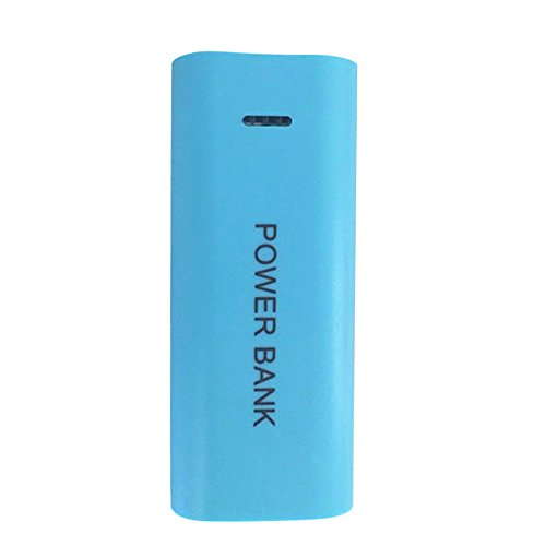 duquanxinquan Powerbank 5600 mAh 2X 18650 USB Power Bank bolsa cargador DIY Box portátil pequeño fuente de alimentación móvil para iPhone, Samsung, Huawei, etc.