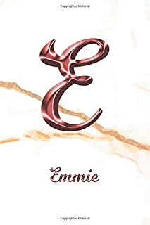 Emmie: Journal Diary | Personalized First Name Personal Writing | Letter E White Marble Rose Gold Pink Effect Cover | Daily Diaries for Journalists & ... Taking | Write about your Life & Interests