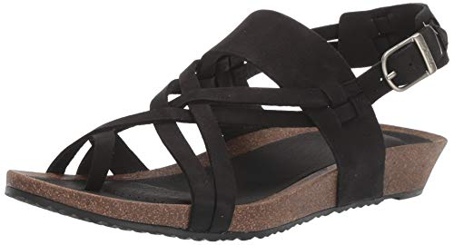 Teva Women's Ysidro Extension Sandal, Black, 8 Medium US