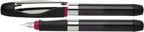 Schneider ID Fountain Pen for Left-Handed Writers L Black and Purple with Ink Cartridge System
