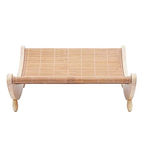 KLJJQAQ Kattennest kennel verwijderbare en wasbare kleine hond bed kat levert Teddy Wo zomer bamboe mat cool pad vier seizoenen universele