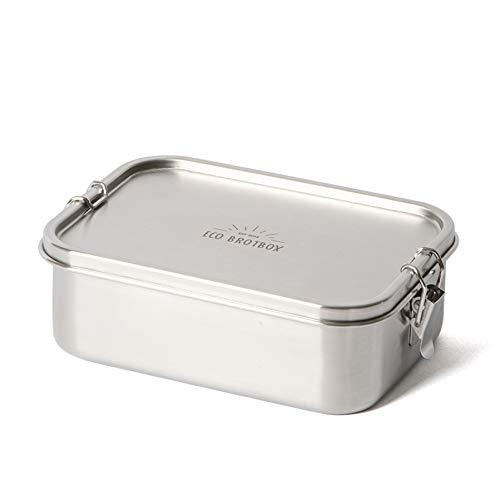 ECO Brotbox | Bento Classic + | auslaufsichere Edelstahl Lunchbox mit Trennsteg | 1100 ml