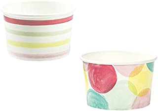 Talking Tables We Heart Ice Cream Mini Treat Tubs for a Birthday Party or General Celebration, Multicolor (10 Pack), 3 inches