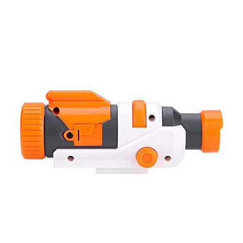Vbestlife Gun Scope, Plastic Detachable Flashlight Scope Brightness Flashlight for Modify Toy Gun Accessories