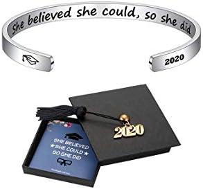M Mooham Inspirational Graduation Gifts Cuff Bracelet