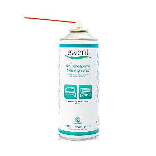 Ewent EW5619 - Spray Igienizzante detergente aria condizionata 400ml. Per casa, auto, condizionatori, climatizzatori