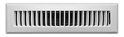 Accord APFRWHL212 Plastic Floor Register with Louvered Design, 2-Inch x 12-Inch, White Finish