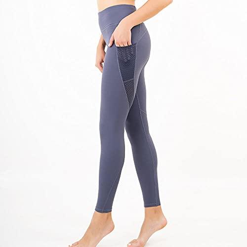 WUHUI Legging Sport Donna Pantaloni Yoga Anticellulite Vita Alta, Pezzo di Jogging in Tasca-A_M, Leggings Fitness Donna Vita Alta Yoga