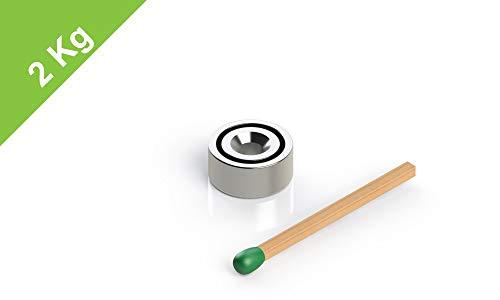 Topfmagnet mit Bohrung und Senkung, D=10 mm, H=4.5 mm, Bohrung 3 mm, Grade N38