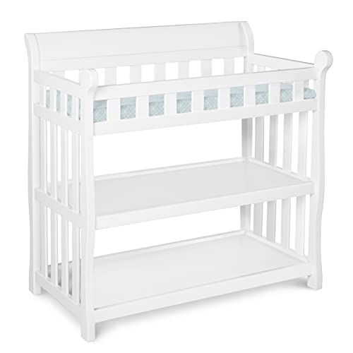 Delta Children Eclipse Changing Table with Changing Pad, White