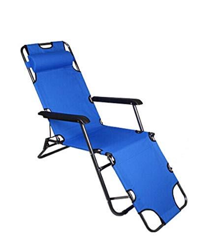 Sedie, Sdraio da Spiaggia, Letti Pieghevoli Siesta Marching, con Sedie Reclinabili Semplici Multifunzionali, Rosse, Multiuso, Particolarmente Facili d