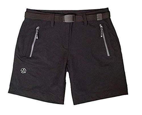 Ternua Women lustou Pantalon outdoor/1541785–9937 Short pour Femme Noir Taille L - Noir - Mehrfarbig,