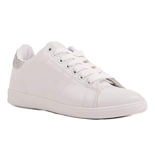 Unbekannt No Name, Damen Sneaker, Weiß - weiß - Größe: 39