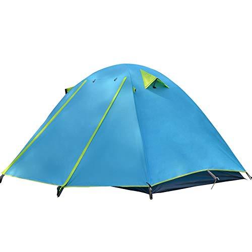 AOGUHN-tent - 3-4-persoons familietent, lichtgewicht draagbare Alumimun-paal waterdicht anti-storm dubbellaags 4-seizoen campingtent