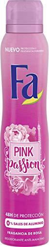 Fa - Desodorante Spray Pink Passion 48h de protección - Anti Manchas Blancas - 2 uds de 200ml