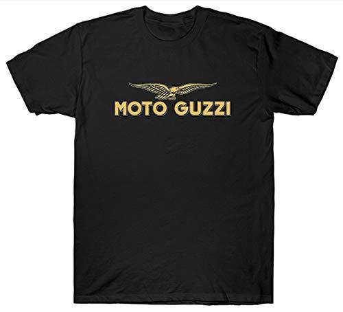 Moto Guzzi Cafe Racer Bike Motorbike Camiseta De Algodón para Hombre Deportes Al Aire Libre Ocio Manga Corta Patrón Creativo Camiseta Verano Top